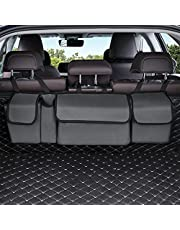 Trunk Organizer Car Storage, Seat Back Storage to Keep Car Trunk Neat, Car Trunk Storage Organizer for SUV Gives You a Big Space Back Seat Trunk, Car Cargo Organizer Frees up Your Trunk Floor