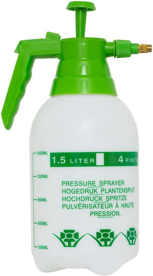 Large Pressurized Pump Plant Water Mister Sprayer - 1.5 Liter Used for Watering The Lawn Garden Waters, or for The Professional Gardener