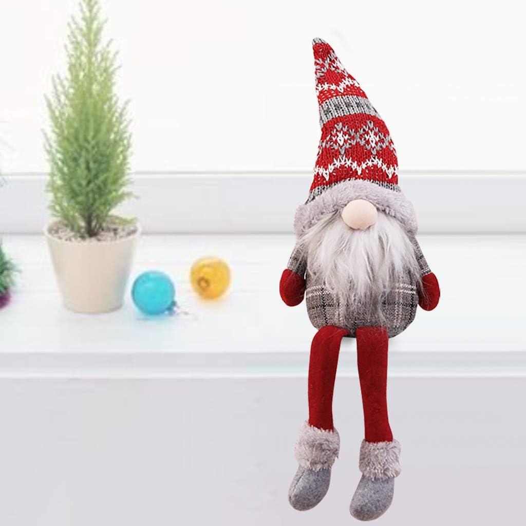 Ansenesna Weihnachten Wichtel Figuren Gro/ß Stoff Zwerge Christmas Deko Schmuck Niedlich Weihnachtspuppe