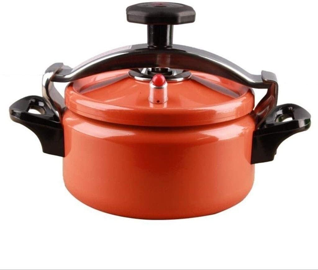 Electric pressure cooker Slow cooker Rice cooker Stainless Steel Pressure Cooker outdoor camping rice cooker kitchen restaurant cooking 2L 3L (Color : Orange, Size : 3L)