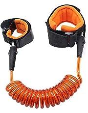 حزام الامان للاطفال وحزام للراحة قابل للسحب للاطفال (برتقالي)