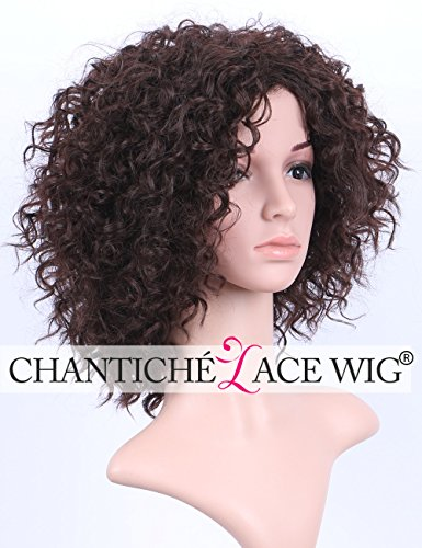 [Chantiche Natural Brown Short Curly Wigs for Women Cheap Price and Heat Resistant/OK Synthetic Wig (GL-0102)] (Short Curly Wig)