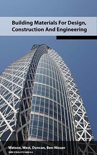 Building Materials For Design, Construction and Engineering