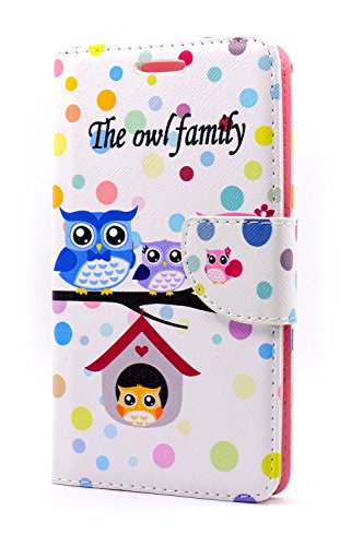 Owl Family Design Standing Wallet Carrying Case for LG G Stylo (Virgin Mobile Phone 4g compare prices)