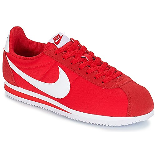 White BUTY 001 Sneaker Rosso Nylon NIKE Classic University Red Alte Uomo Cortez vwpnxB6
