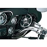 Chrome Skull Speaker Cover 5 .5'' For 2014-2017 Harley Touring Street Glide