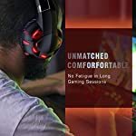 RUNMUS Gaming Headset Xbox One Headset with 7.1 Surround Sound, PS4 Headset with Noise Canceling Mic & LED Light…