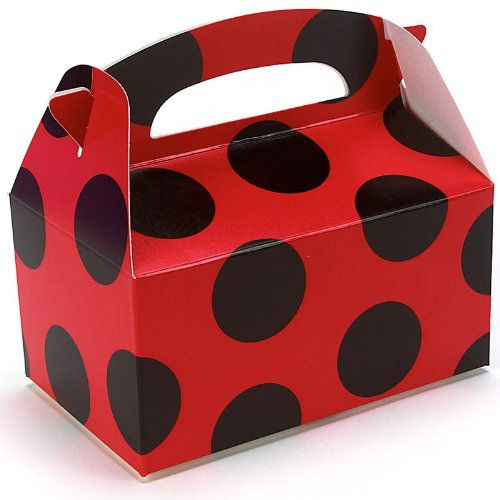 Red with Black Dots Empty Favor Boxes (4)