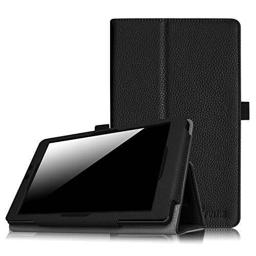 Fintie Nextbook Ares 8A Case - Slim Fit Premium Vegan Leather Folio Case Cover with Stylus Holder for Nextbook Ares 8A / Nextbook Ares 8 / Nextbook Flexx 8 / Nextbook 8 (Old Version) Tablet, Black
