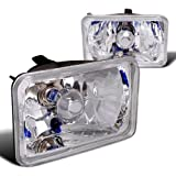 1995 blazer 4x4 - Spec-D Tuning LH-4X6 4X6 Chrome Sealed Beam H4 Headlights Square Lamps Pair