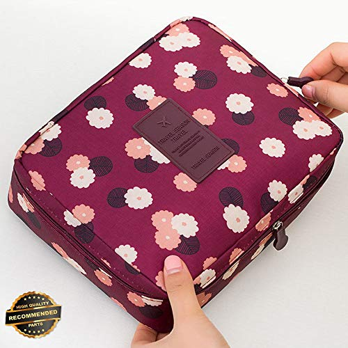 Gatton Portable Travel Makeup Toiletry Case Pouch Flower Organizer Cosmetic Bag New | Style TRVIHR-11291863