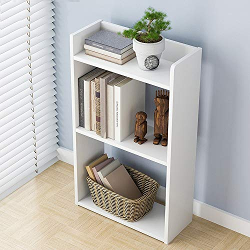 - 3-Layer Floor Bookcase,salaheiyodd 【Ship from USA】Home Simple Floor Open Shelf Bookcase, Bedroom Living Room Creative Free Combination Small Bookcase Bookshelf, 11.8 x 6.7 x 23.7 inches