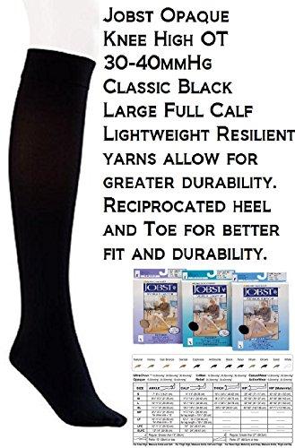Jobst Opaque Knee-High 30-40 mmHg Open Toe