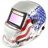 Forney 55654 Automatic Darkening Welding Helmet, Glory, American Flag