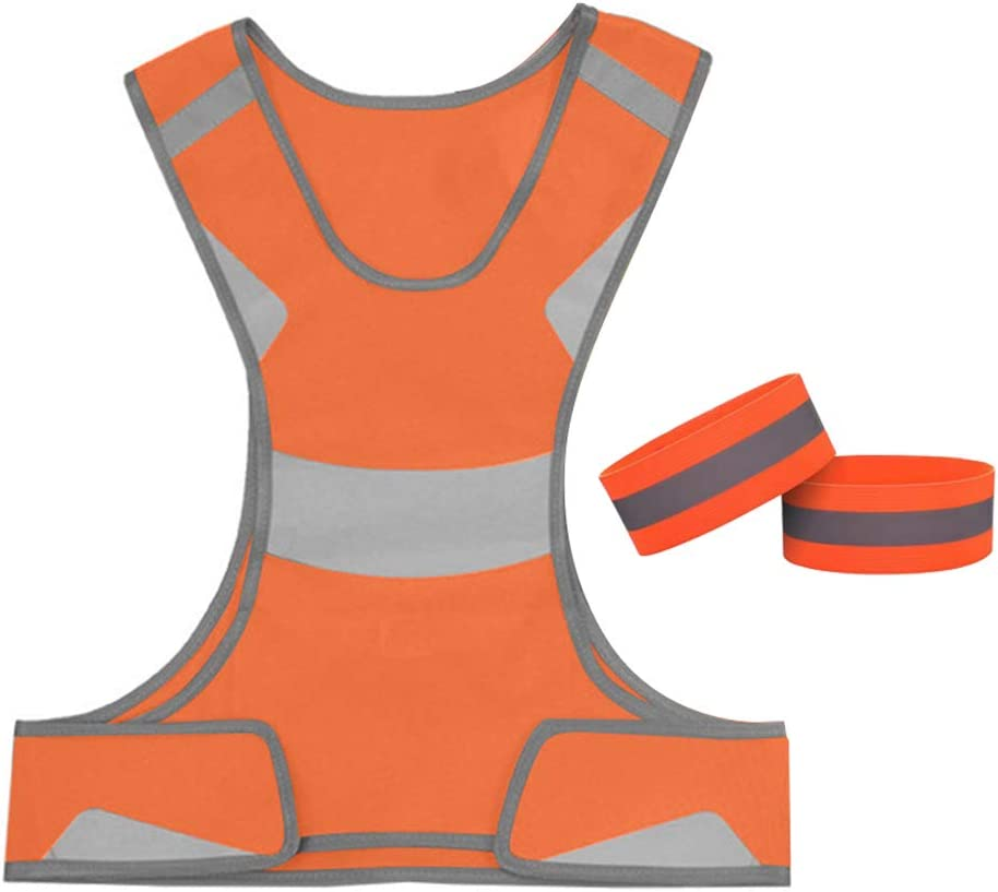 GOOUTS Hi Vis Vest - Safety Reflective Running Vest - Running Gear with 2 Free Bands