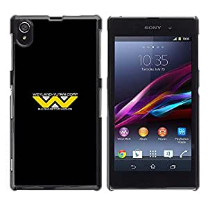 EJOY---Cubierta de la caja de protección la piel dura para el / Sony Xperia Z1 L39 / --Weyland Yutani Corp
