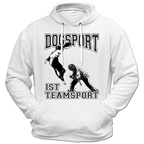 getshirts - RAHMENLOS® Geschenke - Hoodie - Hunde - Dogsport ist Teamsport - weiss M