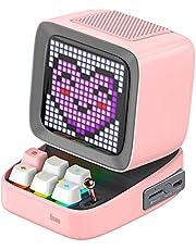 Divoom Ditoo Multifunctionele Pixel Art LED draagbare Bluetooth luidspreker, 256 programmeerbaar LED-paneel met feestlicht, smart digitale tafelklok, gaming muziekbox ondersteunt TF-kaart en radio