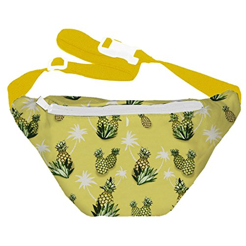 [Funny Guy Mugs Pineapple Fanny Pack] (Easy Halloween Costume Ideas For Guys)