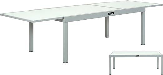 Habitat et Jardin - Table DE Jardin Aluminium Extensible ...
