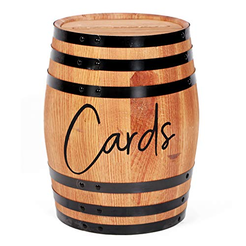 Motor City Barrels - Wedding Reception - White Oak- Barrel Card Holder