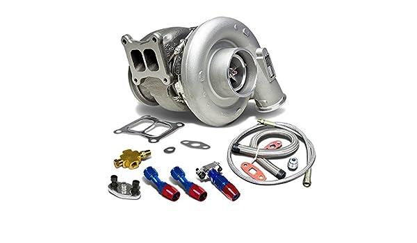 hx55 Dodge ISM/L10/M11 T4 twinscroll Diesel Turbocompresor + aceite alimentación + línea de drenaje turbina a/R .88: Amazon.es: Coche y moto