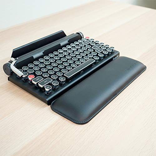 Qwerkywriter Official Ergonomic PU Leather Keyboard Wrist Pad Rest 13x4 inches Does Not Include Keyboard