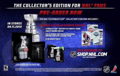 Amazon. Com: nhl 13 (stanley cup collector's edition steelbook.