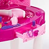 Pretend Play Kids Vanity Table and Chair Beauty