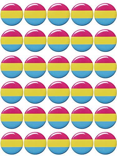 - Mayam 30 Pieces Rainbow Pride Buttons Pins Gay Pride Button Pins Rainbow Flag Pinback Button,1 inch (color 3, 30)
