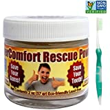 Dental RESCUE Combo - SuperComfort RESCUE Tooth Powder & Flossing Toothbrush - Helps to Reduce Gum Disease, Helps Gum Recession, Helps to Remove Plaque, Helps with Gingivitis, Helps Bleeding Gums