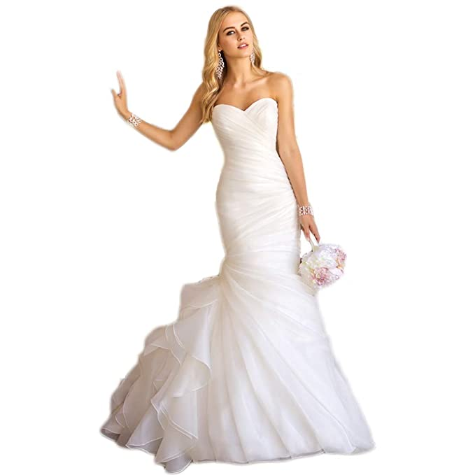 YAONAI Abiti da Sposa Senza Spalline Senza Spalline da Donna f27d8ce491c