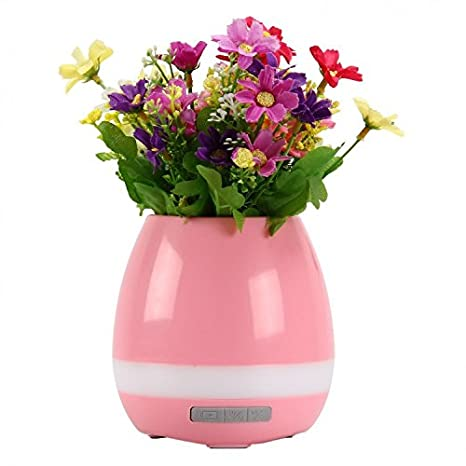 Premsons Wireless Musical Flower Plant with Bluetooth Speaker & LED Lights for Decorative Pot Vase Compatible with Honor 8 Pro (Colours May Vary)