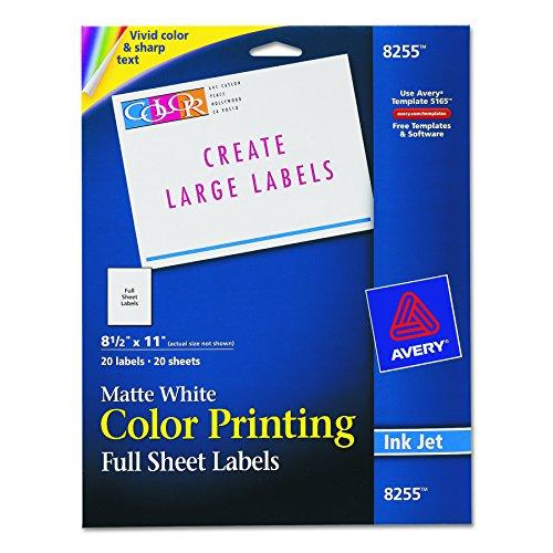 Avery Printing Labels Inkjet Printers
