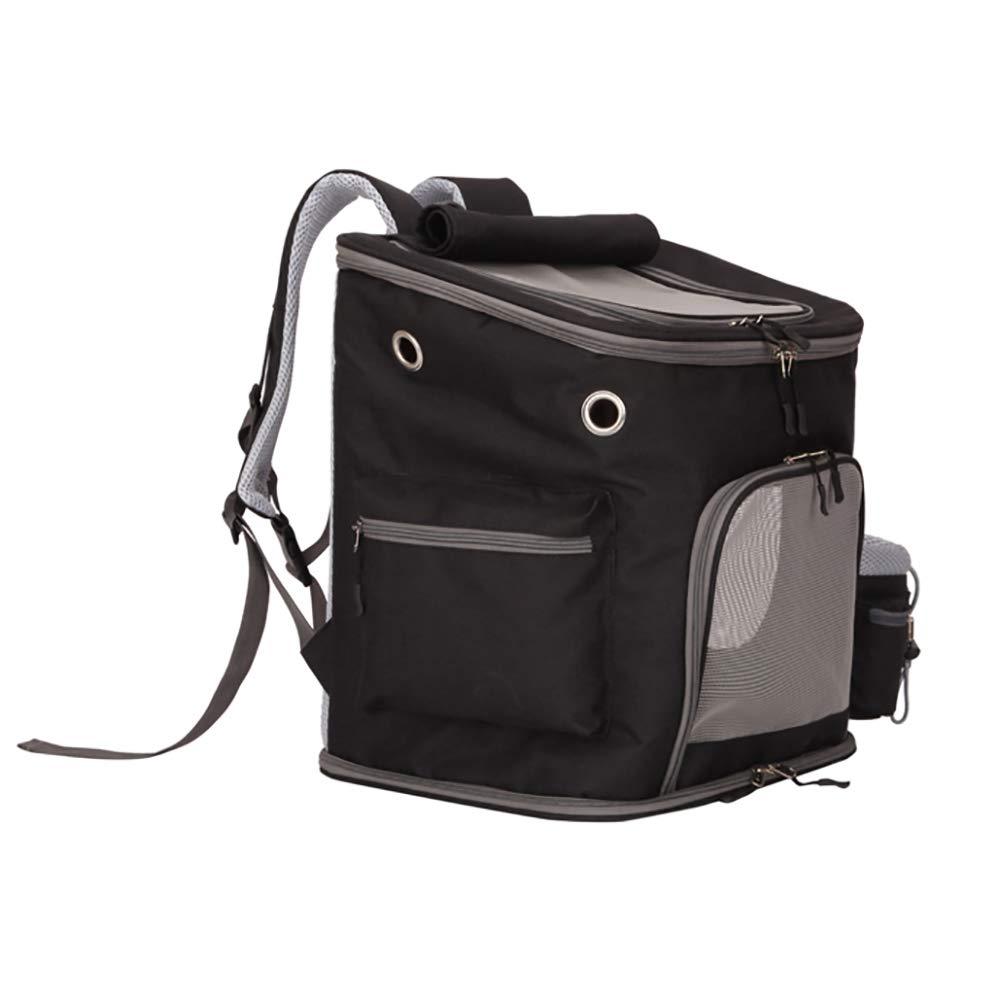 D DJLOOKK Cat Backpack Carrier Portable Traveler Handbag for Pet Small Dog with Space Transparent Vision Cushion-Mat Cingulate for Cat