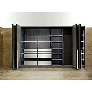 Folding / Sliding Door System, Full Overlay. PS11, Once Folded, The Doors  Can Slide Towards Either Side Of The Cabinet.,