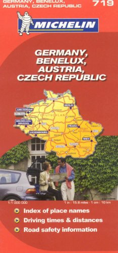Michelin Map Germany Austria Benelux Czech Republic  719 (Maps/Country (Michelin))