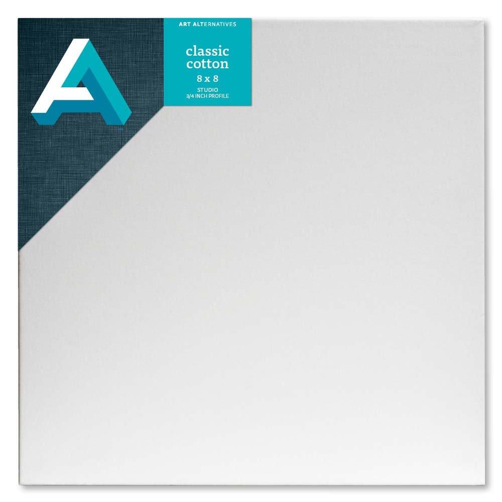 One Single Canvas Art Alternatives 8 x 8 inch Pre-Stretched Studio Canvas,White