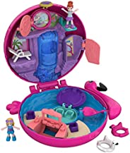 Polly Pocket Pocket World Flamingo Floatie Compact with Surprise Reveals, Micro Dolls & Accessories   [Ama