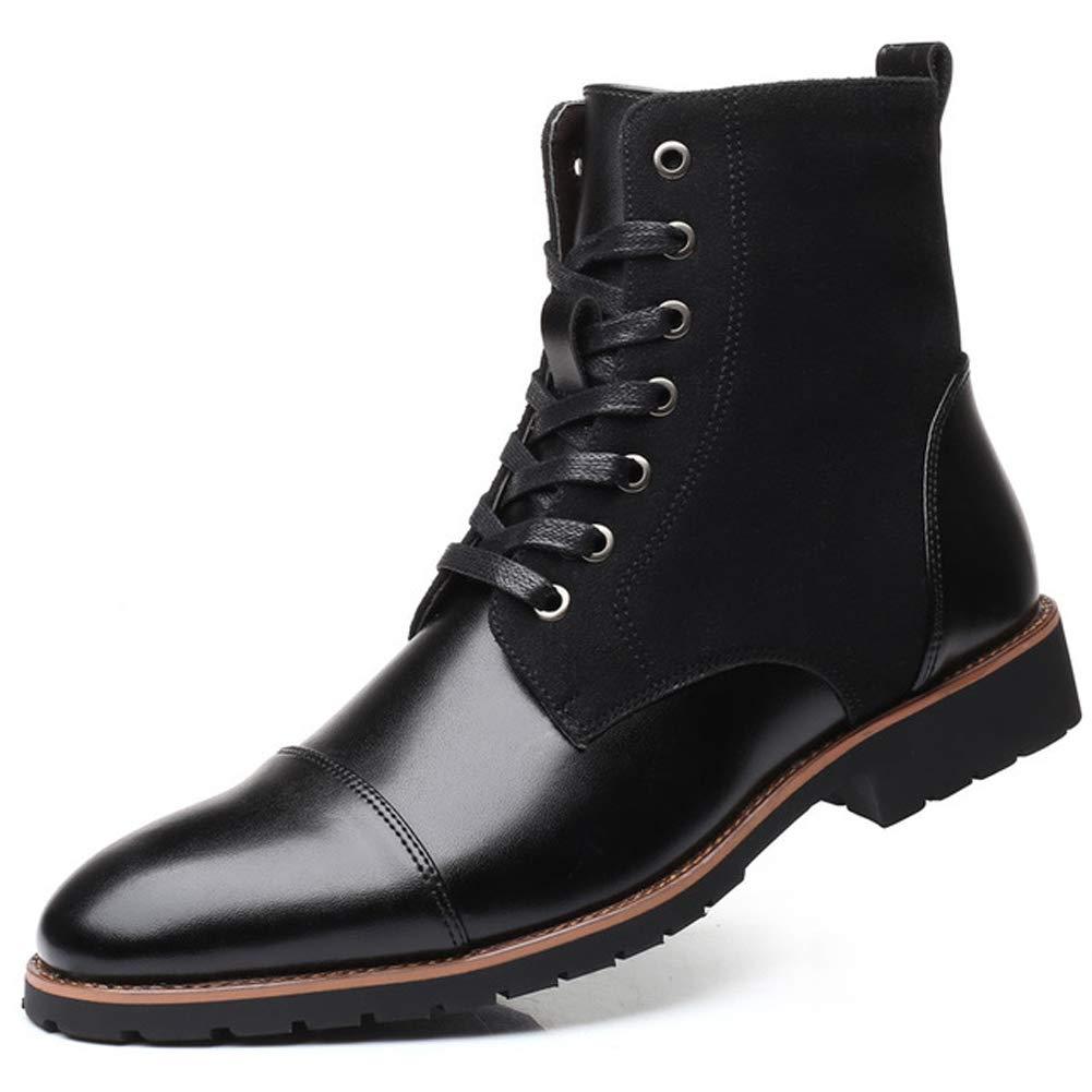 XI-GUA Männer Spitze weiche Leder hohe Stiefel warme handgemachte beiläufige Spitze Rutschfeste Verschleißschuhe B07MWYNCPF Kletterschuhe Hohe Qualität und geringer Aufwand