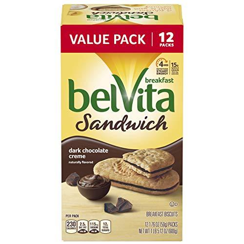 - Belvita Dark Chocolate Creme Breakfast Biscuit Sandwiches, 12 ct