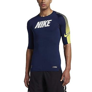 NIKE Pro Men`s Half Sleeve Dri Fit Compression Football