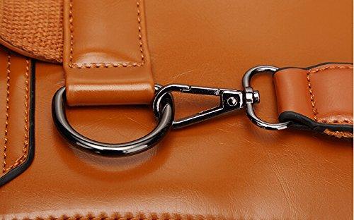 Lazutom - Bolso mochila  para mujer Rojo rojo large marrón