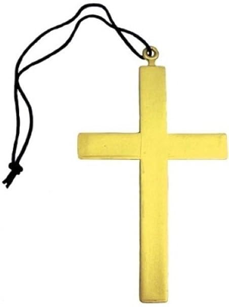 Amazon.com: Disfraz de monje de mujer con cruz de oro vicar ...