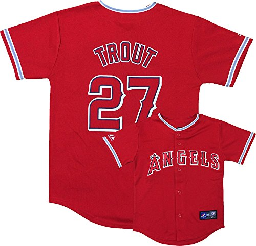 OuterStuff Mike Trout Los Angeles Angels Red Infants Authentic Alternate Replica Jersey (3T)
