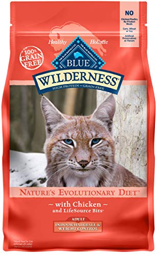 Blue Buffalo Wilderness High Protein Grain Free, Natural Adult Indoor Hairball & Weight Control Dry Cat Food, Chicken 5-lb (11 Best High Fiber Foods For Weight Loss)