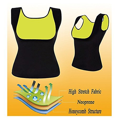 Hot Sweat Vest Neoprene Sauna Vest For Women Weight Loss Tummy Fat Burner Slimming Shapewear Hot Thermo Body Shaper Sweat Tank Top Black No ZipWishesport (Black, X-Large)