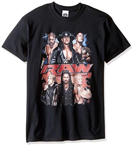 WWE Men's Big and Tall Raw Group T-Shirt, Black, 3XL