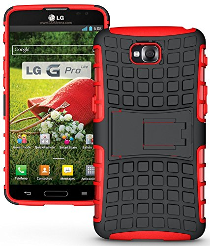 RENADE GRIP RUGGED TPU SKIN HARD CASE COVER STAND FOR LG G PRO LITE PHONE (D680, D682, D684, D686, Unlocked) ()