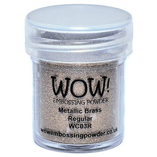 WOW! Goffratura polvere 15ml-ottone Wow Embossing Powder WOW-WC03R